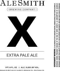 AleSmith X Extra Pale Ale beer Label Full Size