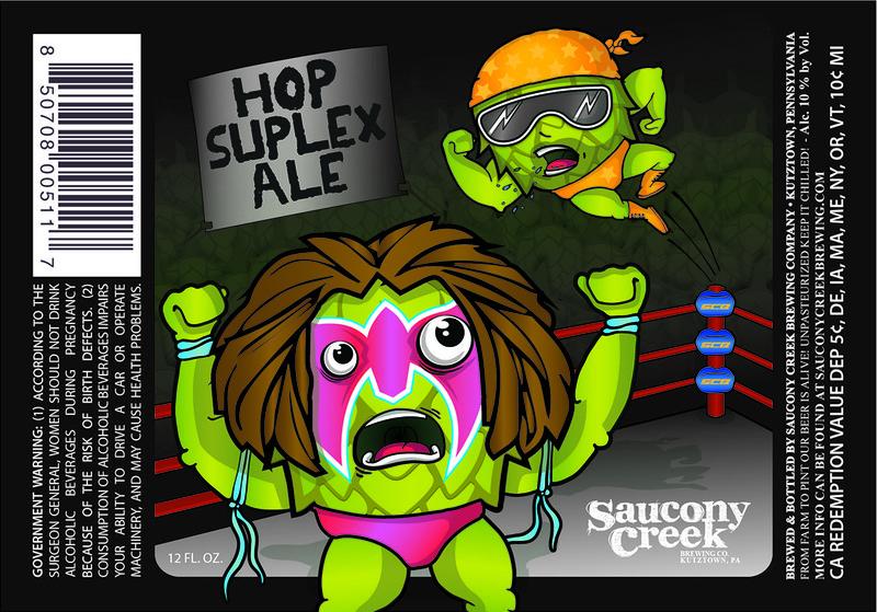 Saucony Creek Hop Suplex Ale beer Label Full Size
