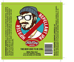 Falls City Hipster Repellant beer Label Full Size