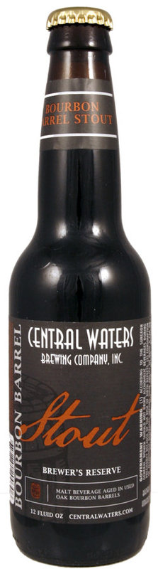 Central Waters Brewer's Reserve Bourbon Barrel Stout 2013 beer Label Full Size