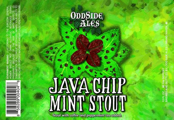 Odd Side Java Chip Mint Stout beer Label Full Size