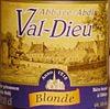Val Dieu Blonde beer Label Full Size