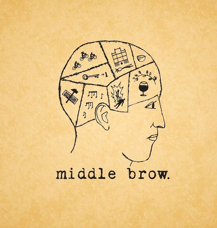 Middle Brow The Life Pursuit beer Label Full Size