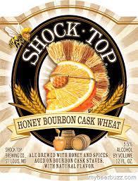 Shock Top Honey Bourbon Cask Wheat beer Label Full Size