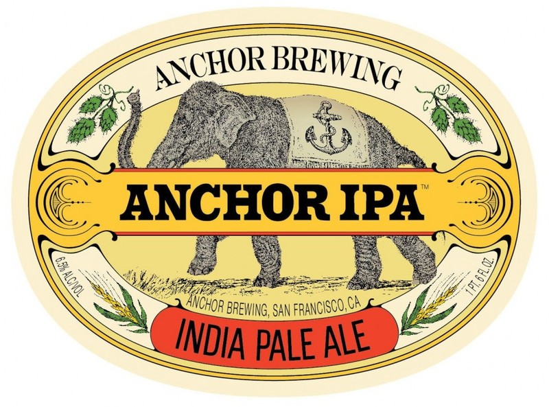 Anchor IPA beer Label Full Size