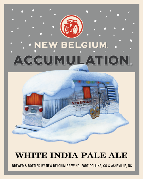 New Belgium Accumulation White IPA beer Label Full Size
