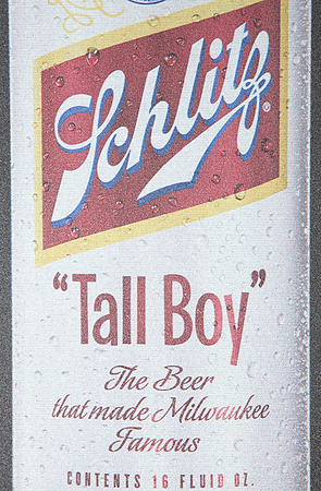 Schlitz Tall Boy beer Label Full Size