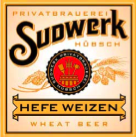 Sudwerk Hefeweizen Bavarian Wheat beer Label Full Size