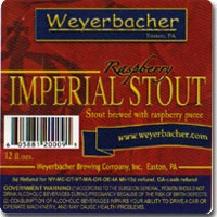 Weyerbacher Raspberry Imperial Stout beer Label Full Size
