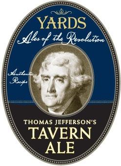 Yards Thomas Jefferson Tavern Ale beer Label Full Size