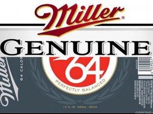 Miller Genuine 64 beer Label Full Size