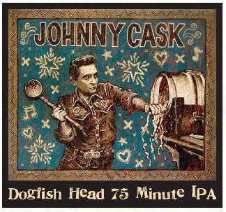 Dogfish Head 75 Minute IPA beer Label Full Size