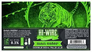 Hi-Wire Man Eater beer Label Full Size