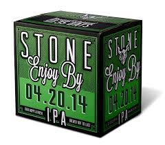 Stone Enjoy By 04.20.14 IPA beer Label Full Size