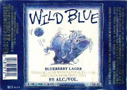 Blue Dawg Wild Blue beer Label Full Size