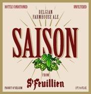 St. Feuillien Saison beer Label Full Size