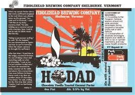 Fiddlehead Hodad Coconut Porter beer Label Full Size