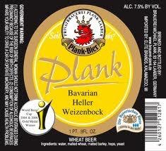 Plank Heller Weizenbock beer Label Full Size