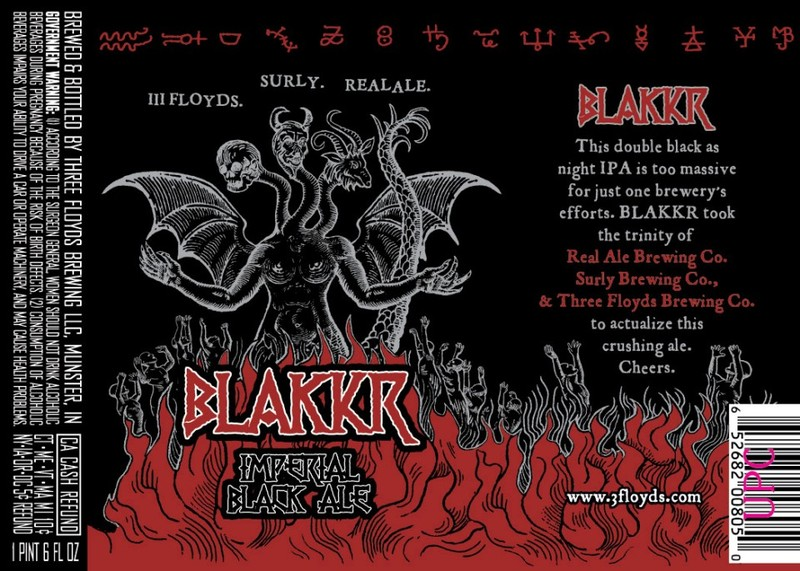 Three Floyds/Surly/Real Ale BLAKKR Beer