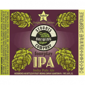 Stoudts Four Play IPA beer Label Full Size