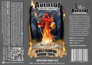 Aviator Devils Tramping Ground Tripel beer Label Full Size