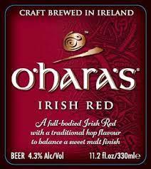 Carlow O'Hara's Irish Red beer Label Full Size