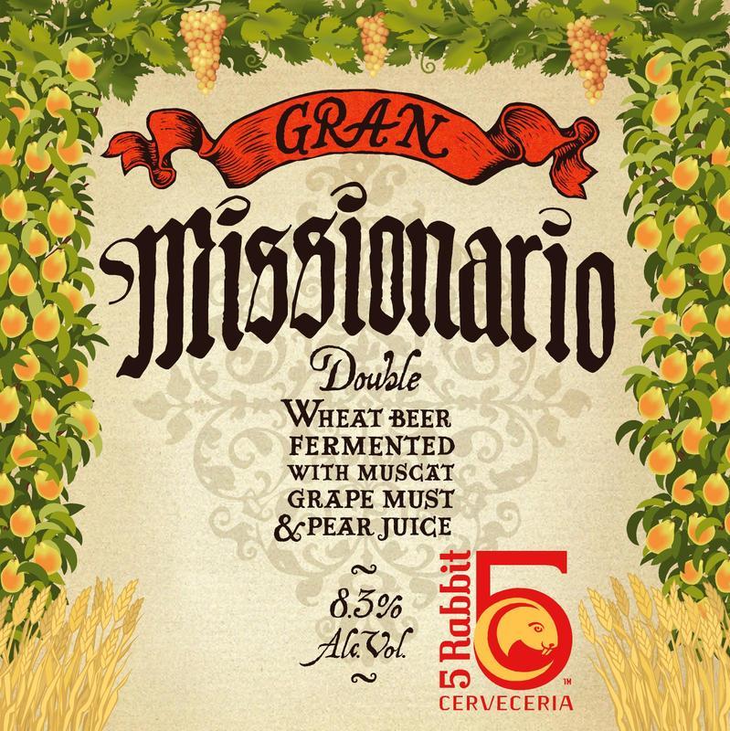 5 Rabbit Gran Missionario beer Label Full Size