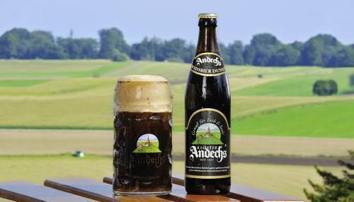 Andechs Weissebier Dunkel beer Label Full Size