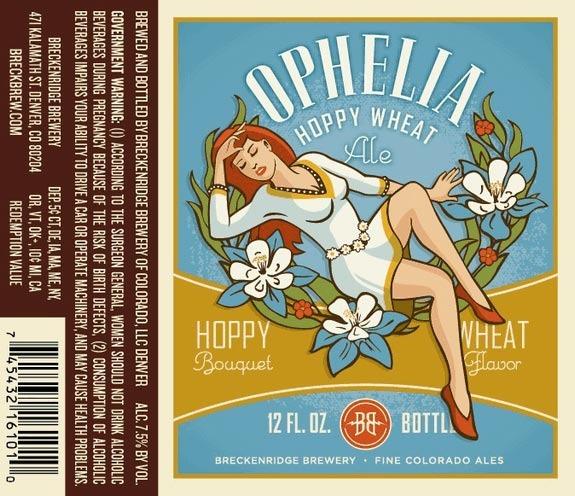 Breckenridge Ophelia beer Label Full Size