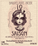 Jolly Pumpkin iO Red Saison beer