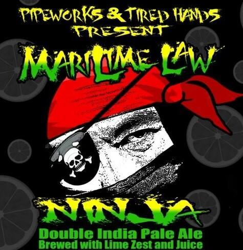 Pipeworks + Tired Hands MariLime Law beer Label Full Size
