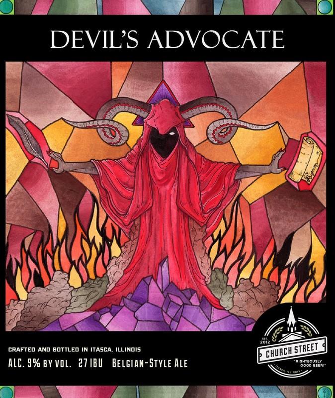 Church Street Devil's Advocate beer Label Full Size