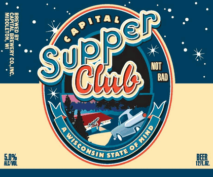 Capital Supper Club beer Label Full Size