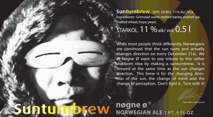 Nogne O Sunturnbrew beer Label Full Size
