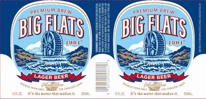 Big Flats 1901 Premium American Lager beer Label Full Size