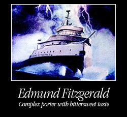 Great Lakes Edmund Fitzgerald Porter beer Label Full Size
