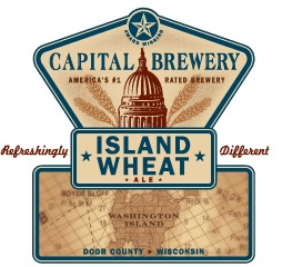 Capital Island Wheat beer Label Full Size