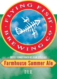Flying Fish Farmhouse Summer Ale beer Label Full Size