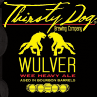 Thirsty Dog Bourbon Barrel Wulver beer Label Full Size