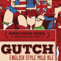Defiance Gutch English Style Mild Ale beer Label Full Size