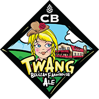 CB Craft Brewers Twang Belgian Farmhouse Ale beer Label Full Size
