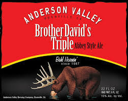 Anderson Valley Brother David's Triple beer Label Full Size