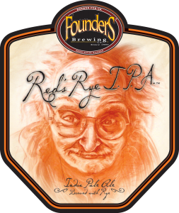 Founders Red's Rye IPA beer Label Full Size