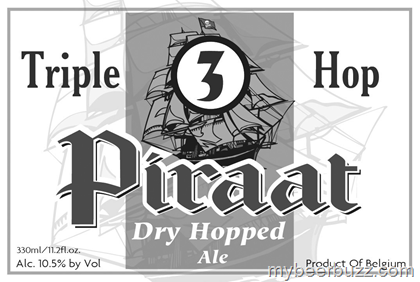 Van Steenberge Piraat Triple Hop beer Label Full Size