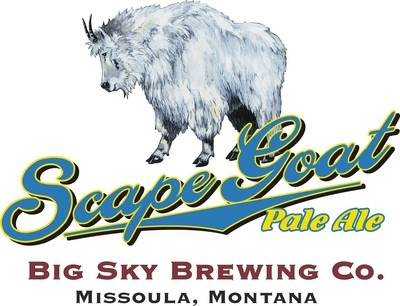 Big Sky Scape Goat Pale Ale beer Label Full Size
