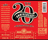 Great Divide 20th Anniversary Ale beer