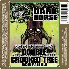 Dark Horse Double Crooked Tree IPA beer Label Full Size