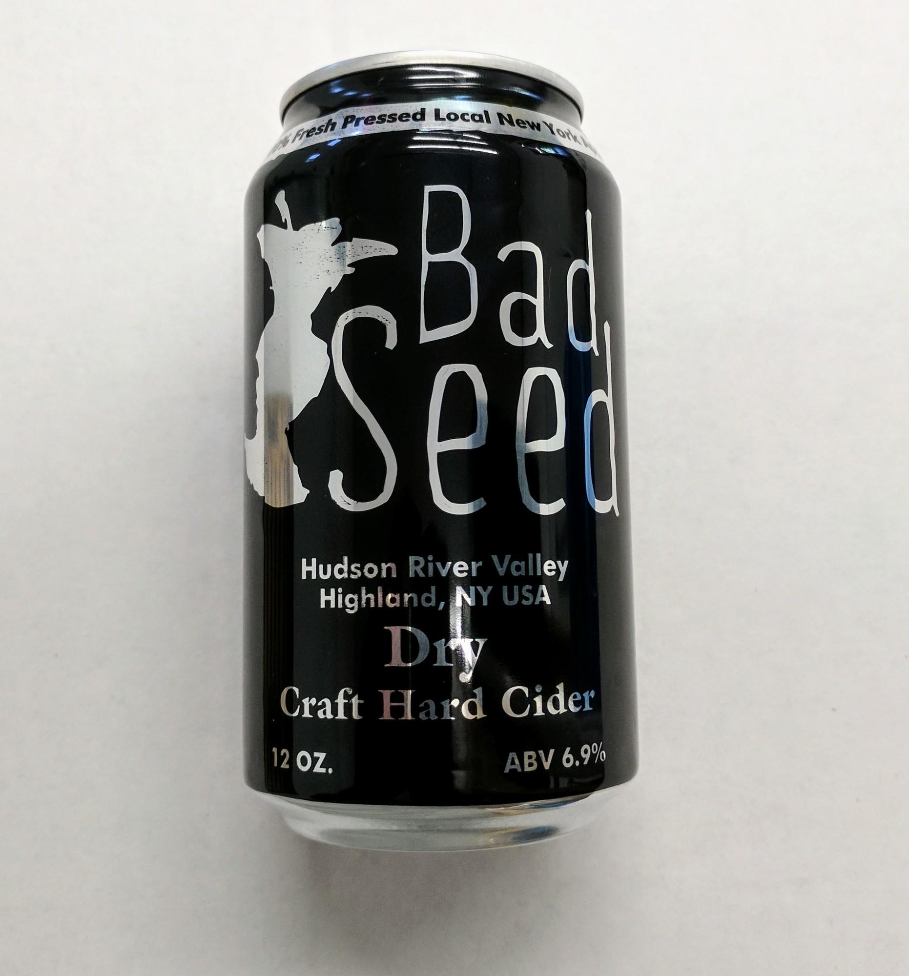 Bad Seed Dry Hard Cider beer Label Full Size