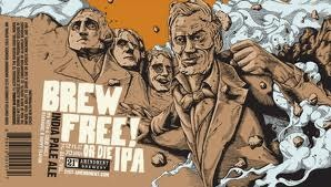 21st Amendment Brew Free! or Die IPA beer Label Full Size