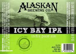 Alaskan Icy Bay IPA beer Label Full Size